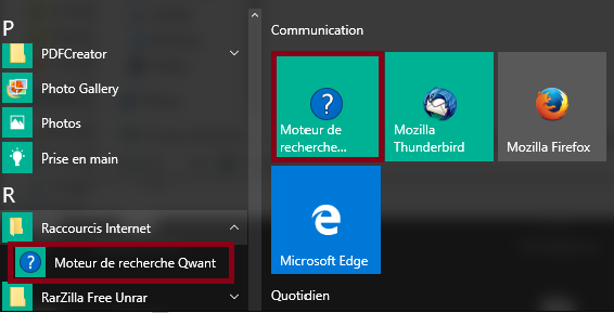 MDT Windows 10 Start menu shortcuts