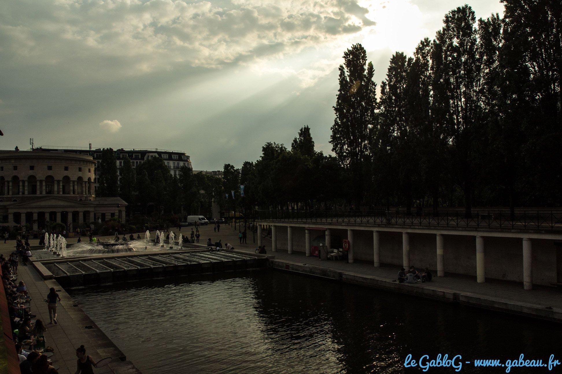 Vue du bassin de la Villettte