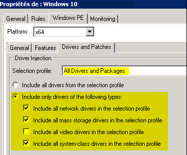 MDT WinPE Packages